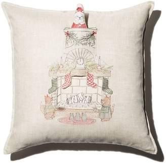 "Coral & Tusk Chimney Santa Decorative Pillow, 20"" x 20"""