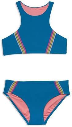 aca397e293679 Gossip Girl Girls' Racerback Two-Piece Swimsuit - Big Kid