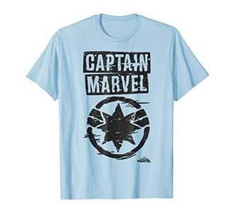 Marvel Captain Painted Circle Logo Graphic T-Shirt
