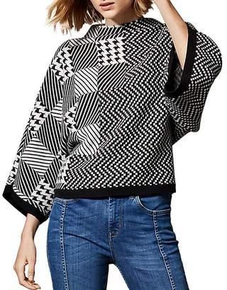 Karen Millen Check Jacquard Sweater