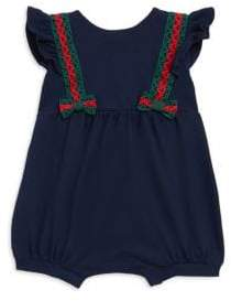 Gucci Baby's Crochet Bow Playsuit