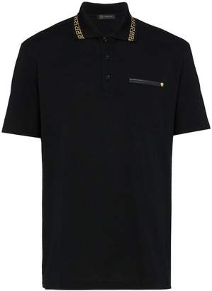 Versace Grecian Detail Polo Shirt