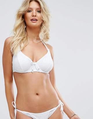 Pour Moi? Pour Moi Crochet Halter Triangle Underwired Bikini Top C-G Cup