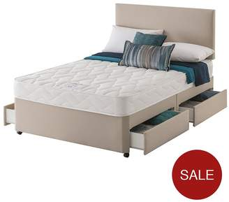 Silentnight Layezee Made By Fenner Bonnel Spring Divan Bed With Half-Price Headboard Offer
