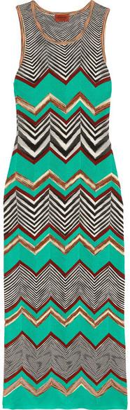 Missoni - Crochet-knit Maxi Dress - Jade