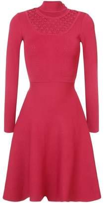 Fendi flared cut-out dress