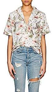 NSF Women's Tanis Floral Cotton Blouse - White