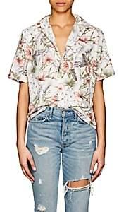 NSF Women's Tanis Floral Cotton Blouse-White