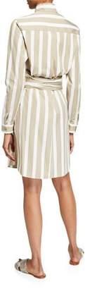Akris Punto Kodak-Striped Linen Tunic Dress