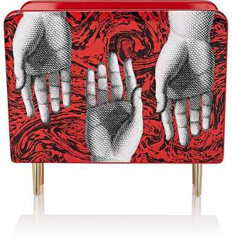 Fornasetti Hand-Motif Wooden Magazine Rack