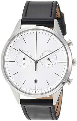 Uniform Wares C39 Swiss Quartz Stainless Steel and Black Leather Watch