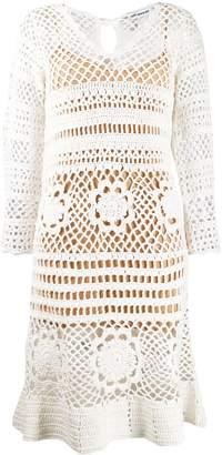 Self-Portrait crochet-style day dress