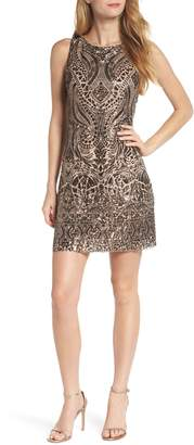 Vince Camuto Sequin Embellished Sheath Dress