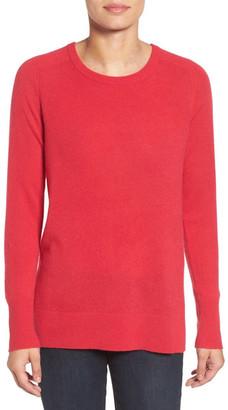 Halogen Crewneck Lightweight Cashmere Sweater $89 thestylecure.com
