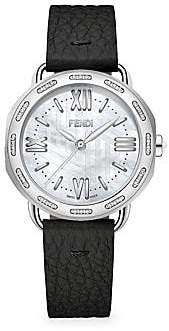 Fendi (フェンディ) - Fendi Fendi Selleria Stainless Steel& Diamond Leather Strap Watch