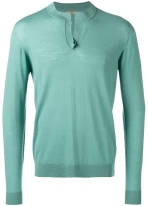 Nuur round split collar sweater