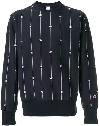Champion logo stripe sweatshirt