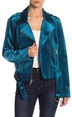 Andrew Marc Velvet Moto Jacket