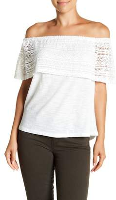 Lucky Brand Crochet Off-The-Shoulder Top