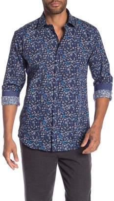 Bugatchi Camera Patterned Long Sleeve Shaped Fit Shirt