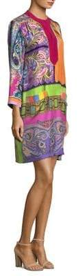 Etro Psychedelic Foulard Silk Dress