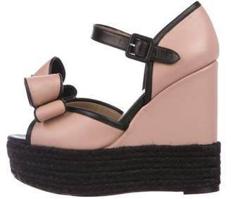 a1a62198332 Valentino Black Covered Wedge Women s Sandals - ShopStyle