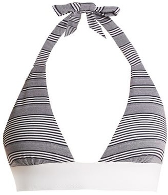 Heidi Klein Cote Sauvage Halterneck Bikini Top - Womens - Grey Stripe