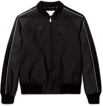 Gucci Appliquéd Wool and Mohair-Blend Souvenir Jacket $2,500 thestylecure.com