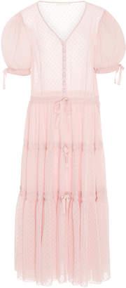 LoveShackFancy Serena Tiered Sheer Maxi Dress