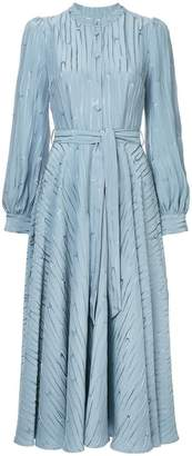 Co belted jacquard dress
