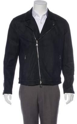 John Varvatos Denim Moto Jacket blue Denim Moto Jacket