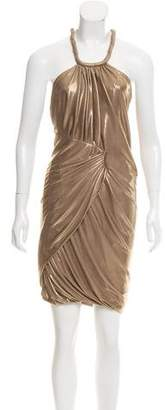 Yigal Azrouel Metallic Mini Dress