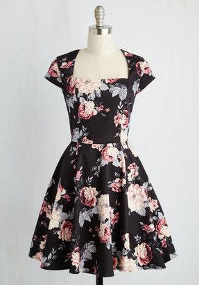 Ixia Cornerstone of Classy Dress in Black Bouquet $69.99 thestylecure.com