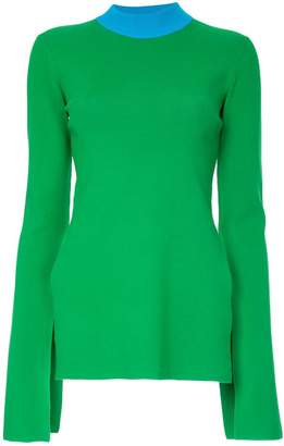 SOLACE London contrasting neck jumper