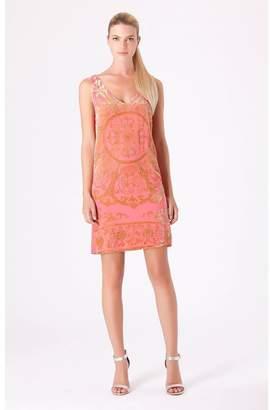 Hale Bob Lania Beaded Silk Dress