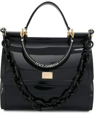 Dolce & Gabbana patent leather tote