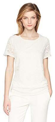 Calvin Klein Women's Short Sleeve Lace Top