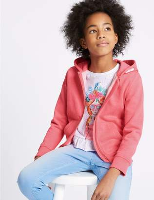 Marks and Spencer Cotton Blend Hooded Sweatshirt (3-16 Years)
