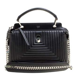 666caf095bac Fendi Dot Com Black Leather Handbag