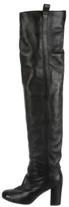 Chanel Cap-Toe Over-The-Knee Boots Black Cap-Toe Over-The-Knee Boots