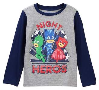 HAPPY THREADS PJ Masks Night Heroes Long Sleeve Tee (Toddler Boys)