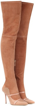 Malone Souliers Madison over-the-knee suede boots