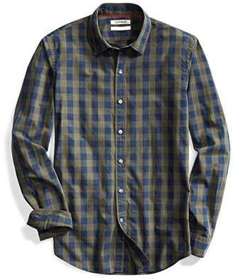 Goodthreads Men's Slim-Fit Long-Sleeve -Scale Check Shirt