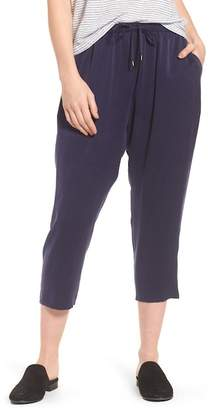 Eileen Fisher Slouchy Silk Crop Pants