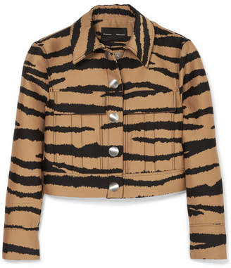 Proenza Schouler Tiger-print Wool And Silk-blend Jacquard Jacket - Tan