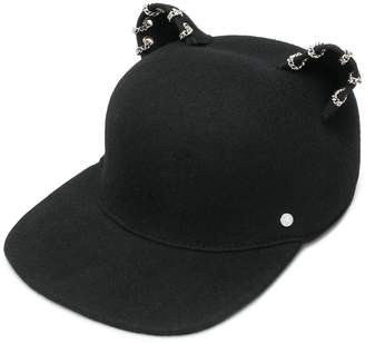 Karl Lagerfeld Choupette chain embellished cap