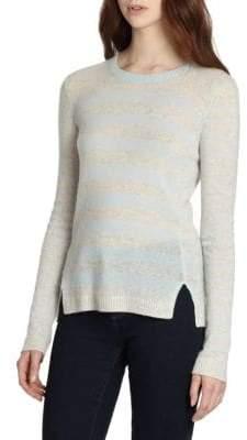 Rebecca Taylor Striped Cashmere Pullover