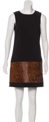 Rachel Zoe Ponyhair-Accented Shift Dress