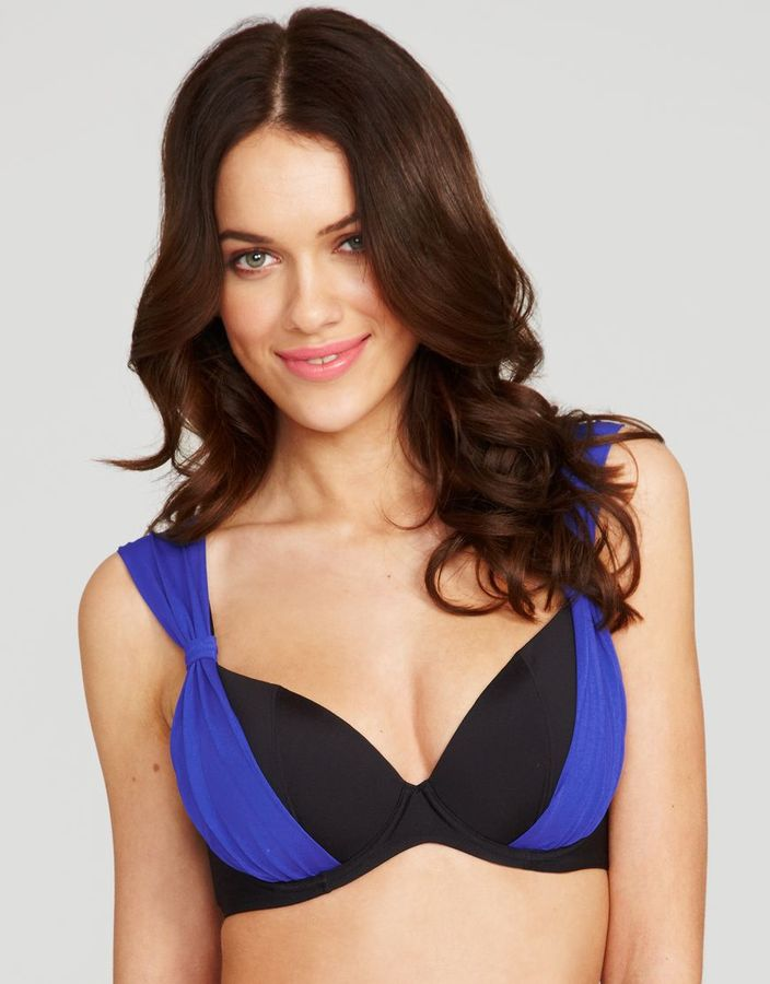 Figleaves Sophina by Figleaves.com Twilight Underwired Padded Bikini Top