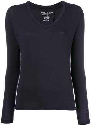 Majestic Filatures U-neck jumper
